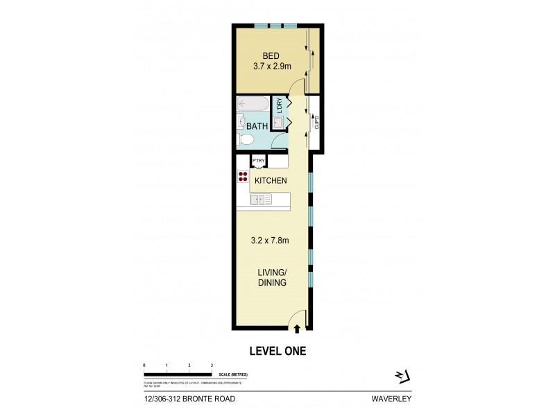 12/306-312 Bronte Road, Waverley NSW 2024 Floorplan