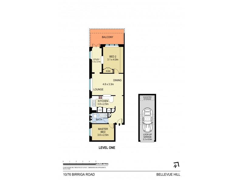10/76 Birriga Road, Bellevue Hill NSW 2023 Floorplan