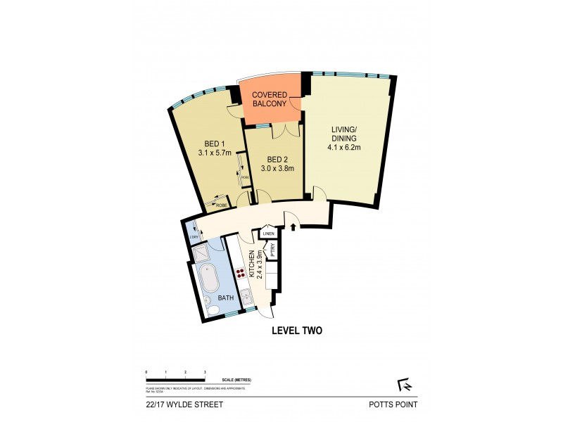 22/17 Wylde Street, Potts Point NSW 2011 Floorplan