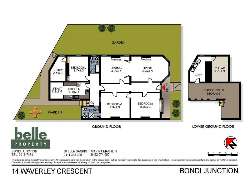 14 Waverley Crescent, Bondi Junction NSW 2022 Floorplan