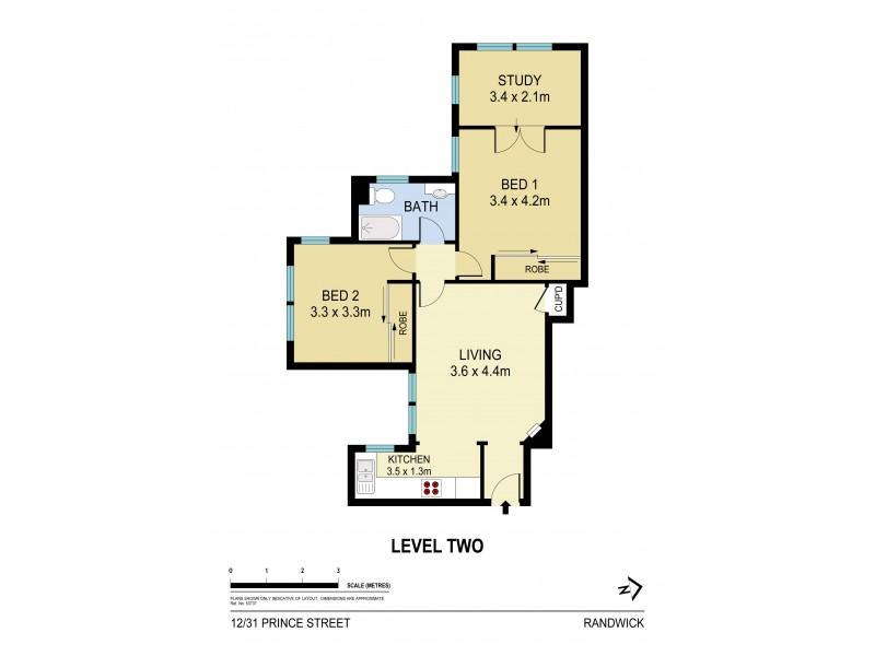 12/31 Prince Street, Randwick NSW 2031 Floorplan