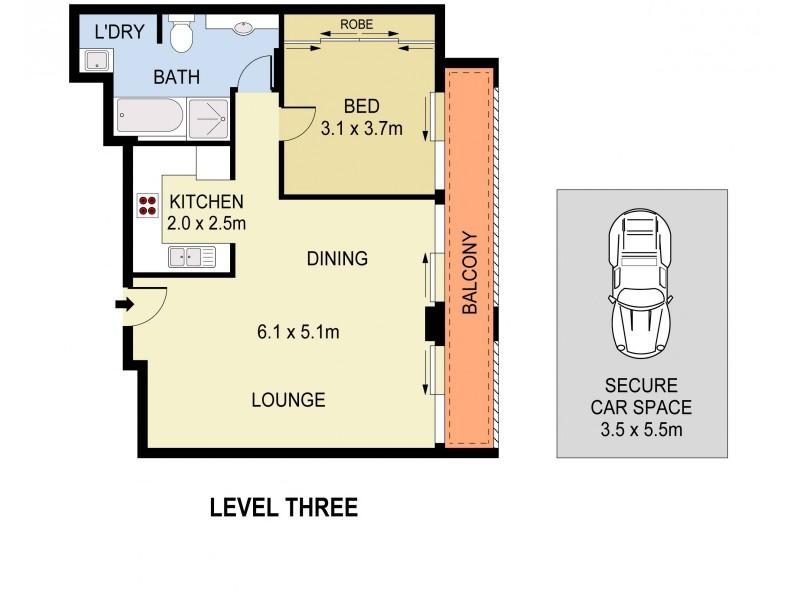 6/8 Young Street, Paddington NSW 2021 Floorplan