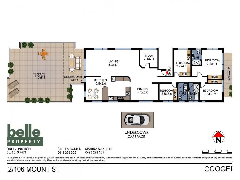 12/106 Mount Street, Coogee NSW 2034 Floorplan