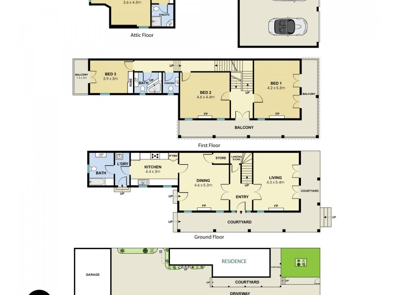 14 Porter Street, Bondi Junction NSW 2022 Floorplan