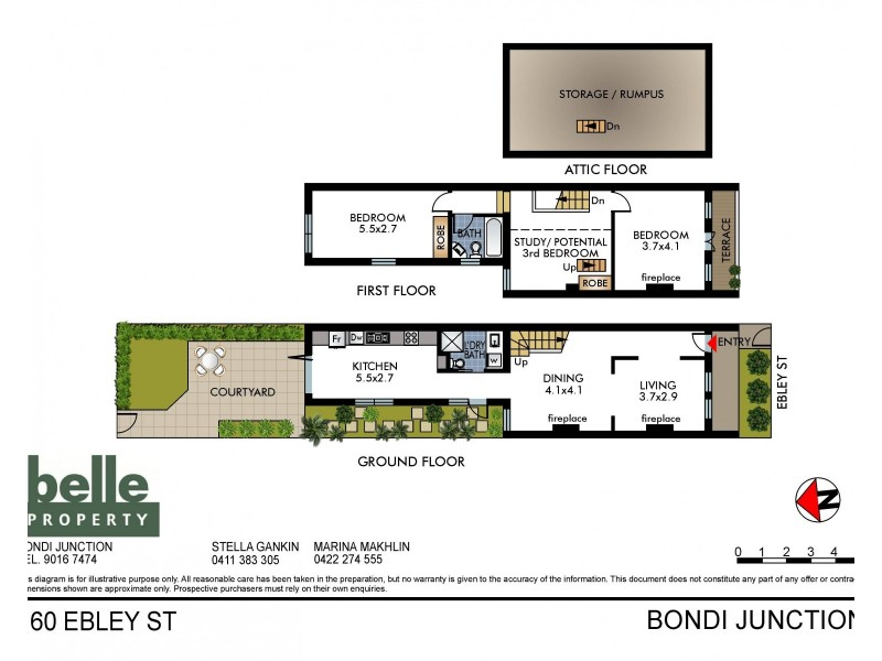 160 Ebley Street, Bondi Junction NSW 2022 Floorplan