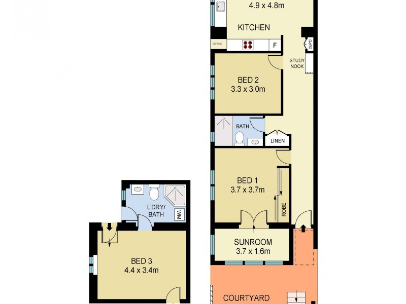2/152 Hall Street, Bondi Beach NSW 2026 Floorplan