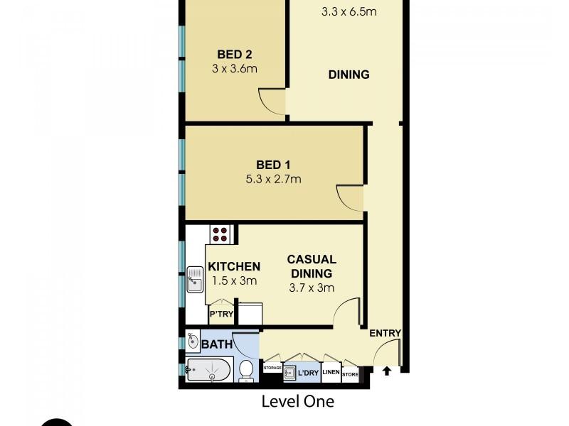 6/19 Denham Street, Bondi NSW 2026 Floorplan