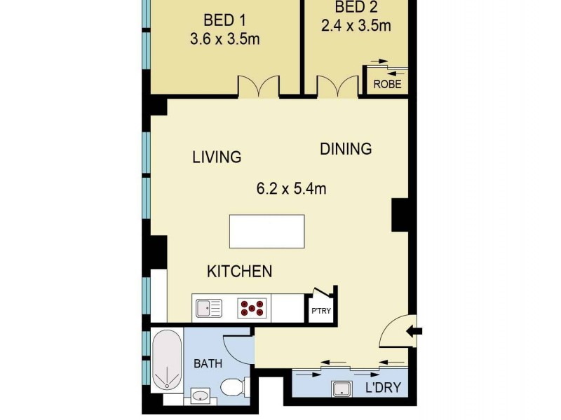 35/1 Beach Road, Bondi Beach NSW 2026 Floorplan