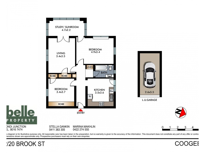 2/20 Brook Street, Coogee NSW 2034 Floorplan