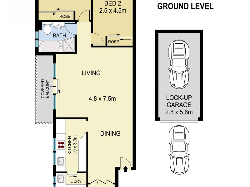 7/20 Arcadia Street, Coogee NSW 2034 Floorplan