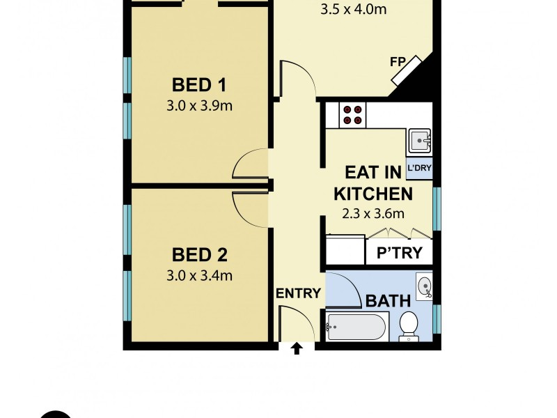1/37A Bourke Street, Queens Park NSW 2022 Floorplan