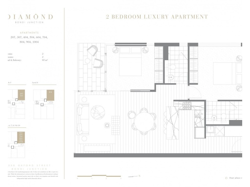 207/350 Oxford Street, Bondi Junction NSW 2022 Floorplan