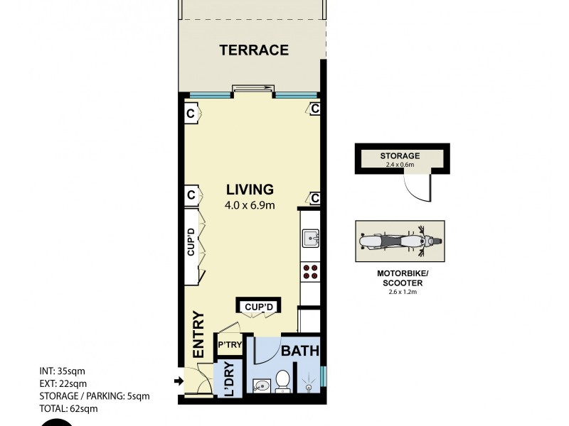 AG06/91 Old South Head Road, Bondi Junction NSW 2022 Floorplan