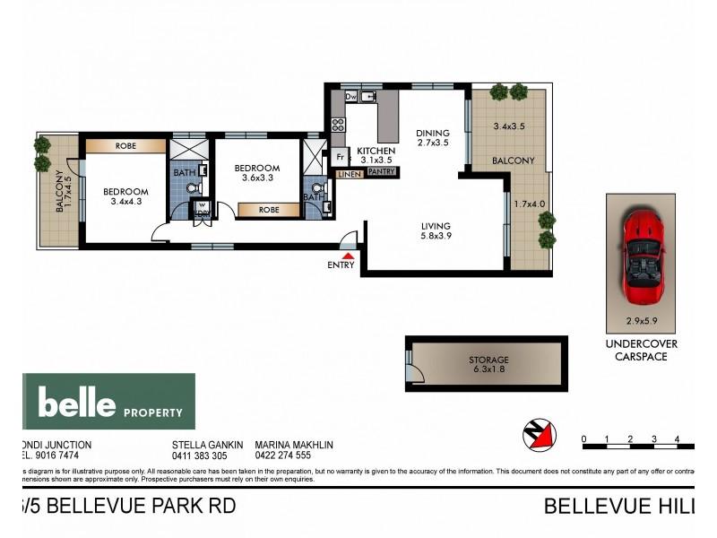 6/5 Bellevue Park Road, Bellevue Hill NSW 2023 Floorplan