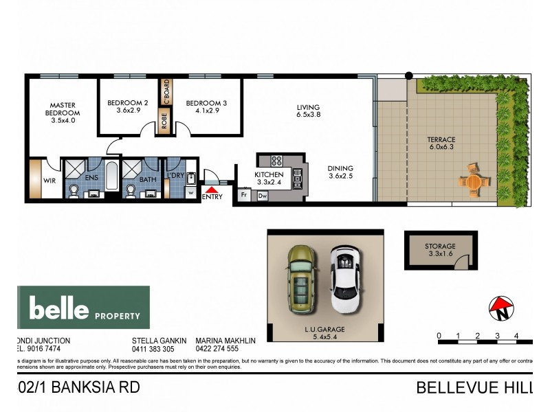 602/1-3 Banksia Road, Bellevue Hill NSW 2023 Floorplan