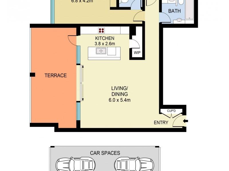 1410/260 Bunnerong Road, Hillsdale NSW 2036 Floorplan