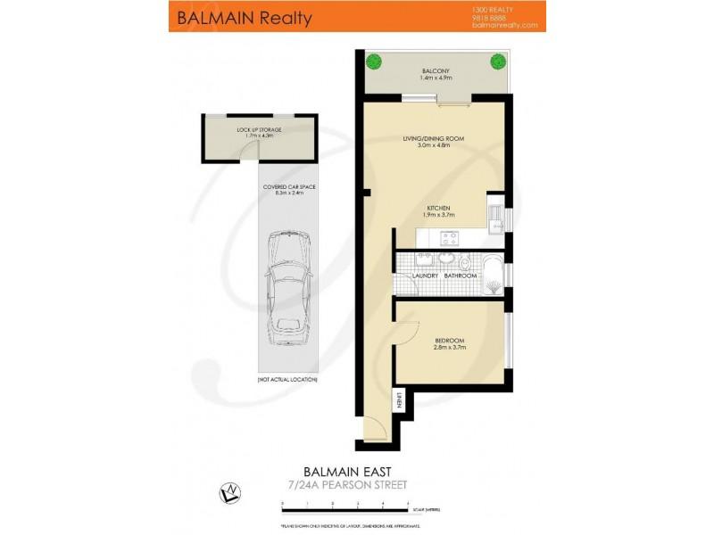 7/24a Pearson Street, Balmain East NSW 2041 Floorplan