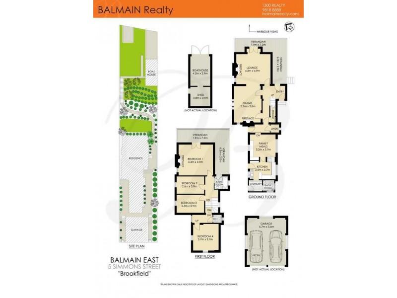 5 Simmons Street, Balmain East NSW 2041 Floorplan
