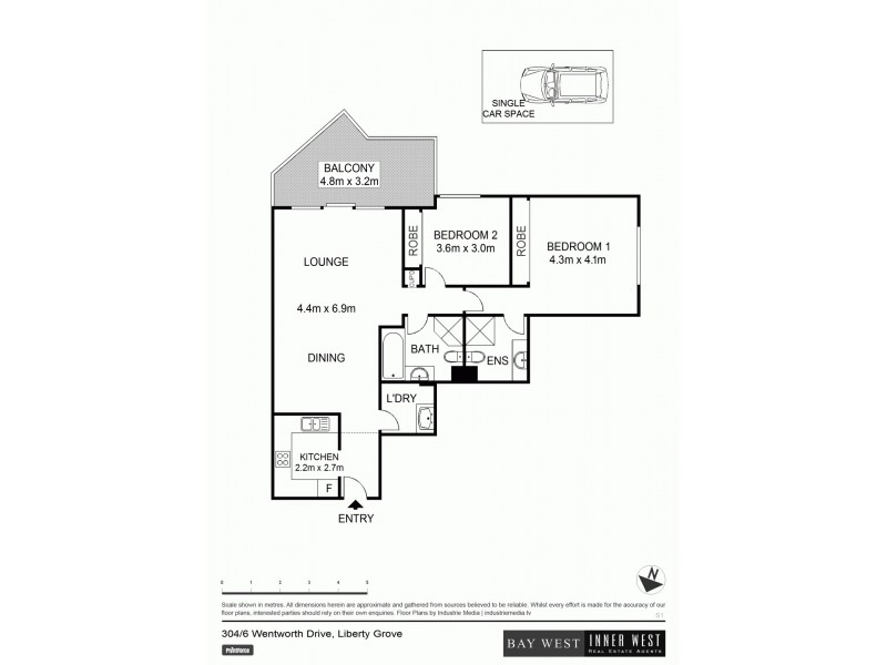 304/6 Wentworth Drive, Liberty Grove NSW 2138 Floorplan
