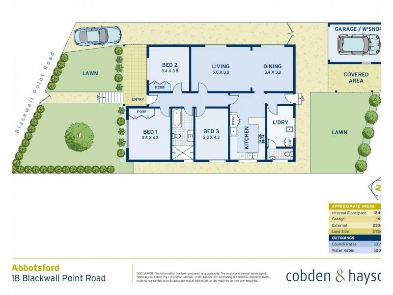18 Blackwall Point Road, Abbotsford NSW 2046 Floorplan