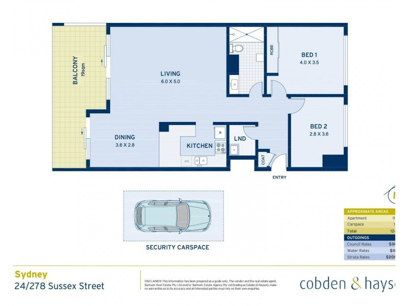 24/278 Sussex Street, Sydney NSW 2000 Floorplan