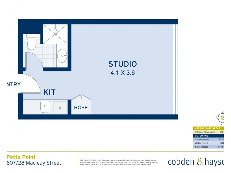 607/28 Macleay Street, Potts Point NSW 2011 Floorplan