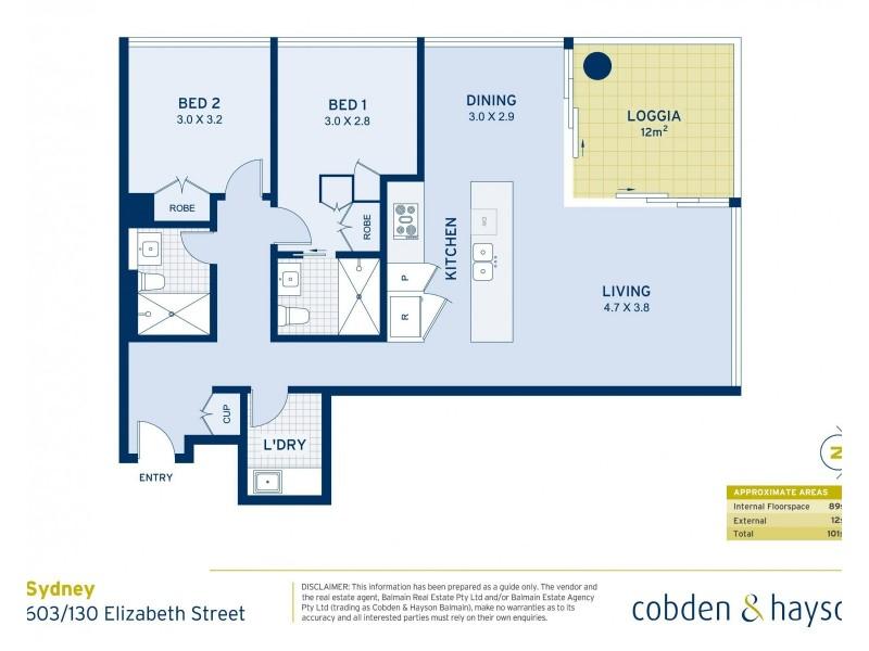 603/130 Elizabeth Street, Sydney NSW 2000 Floorplan