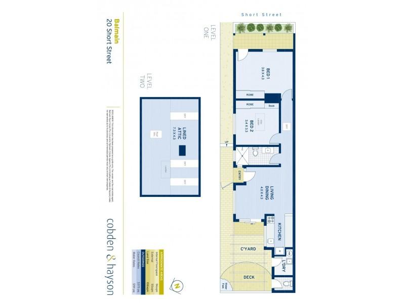 20 Short Street, Balmain NSW 2041 Floorplan