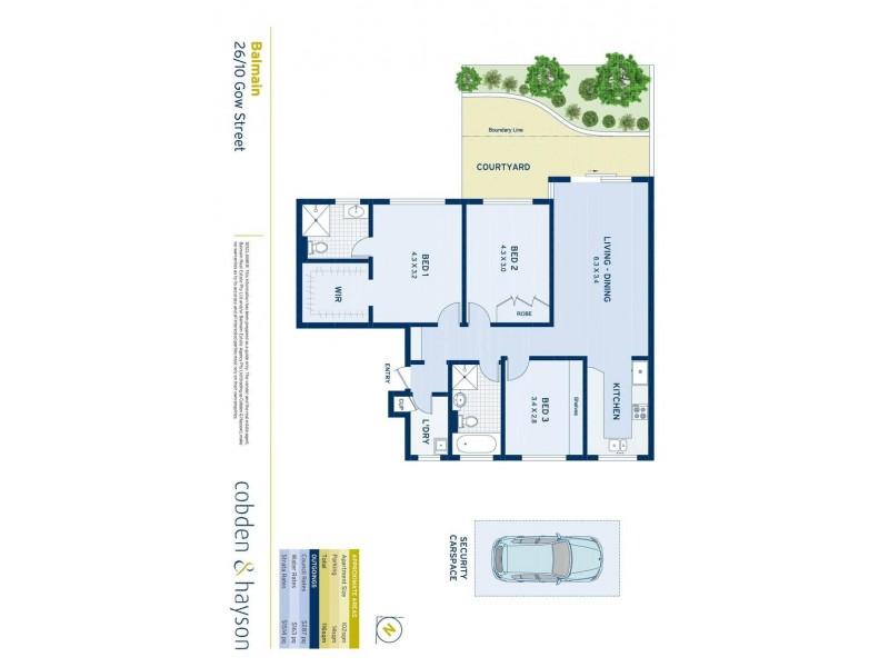 26/10 Gow Street, Balmain NSW 2041 Floorplan