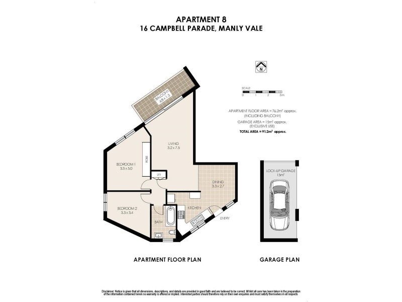 8/16 Campbell Parade, Manly Vale NSW 2093 Floorplan