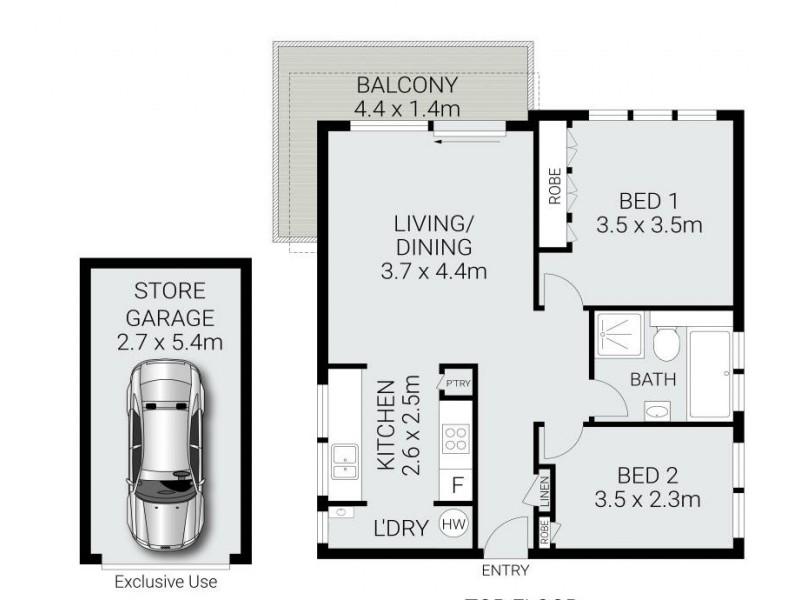 5/17 Stuart Street, Collaroy NSW 2097 Floorplan