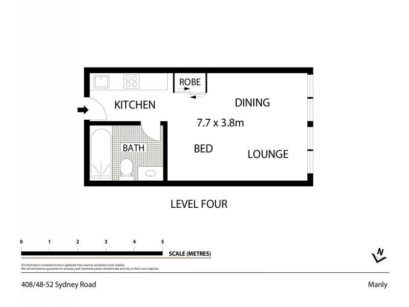 408/48-52 Sydney Road, Manly NSW 2095 Floorplan