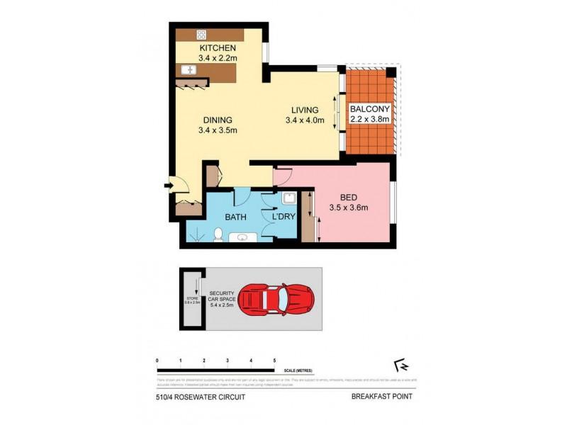 510/4 Rosewater Circuit, Breakfast Point NSW 2137 Floorplan