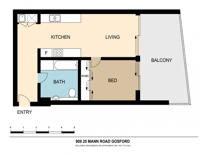 908/21-23 Mann Street, Gosford NSW 2250 Floorplan