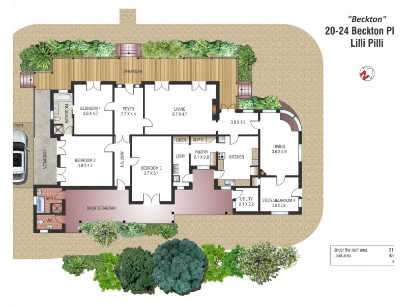 20-24 Beckton Place, Lilli Pilli NSW 2229 Floorplan