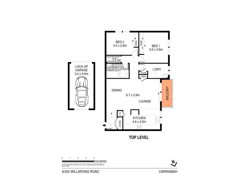 8/200 Willarong Road, Caringbah NSW 2229 Floorplan