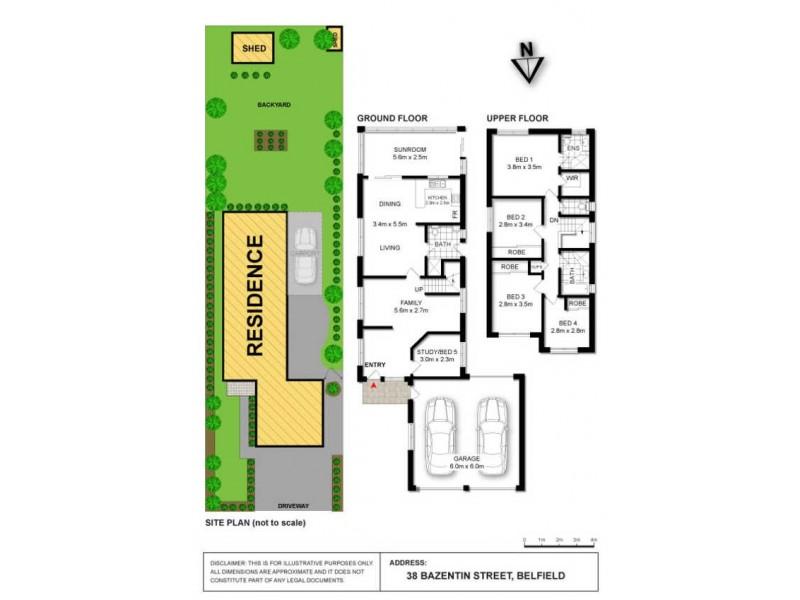 38 Bazentin Street, Belfield NSW 2191 Floorplan