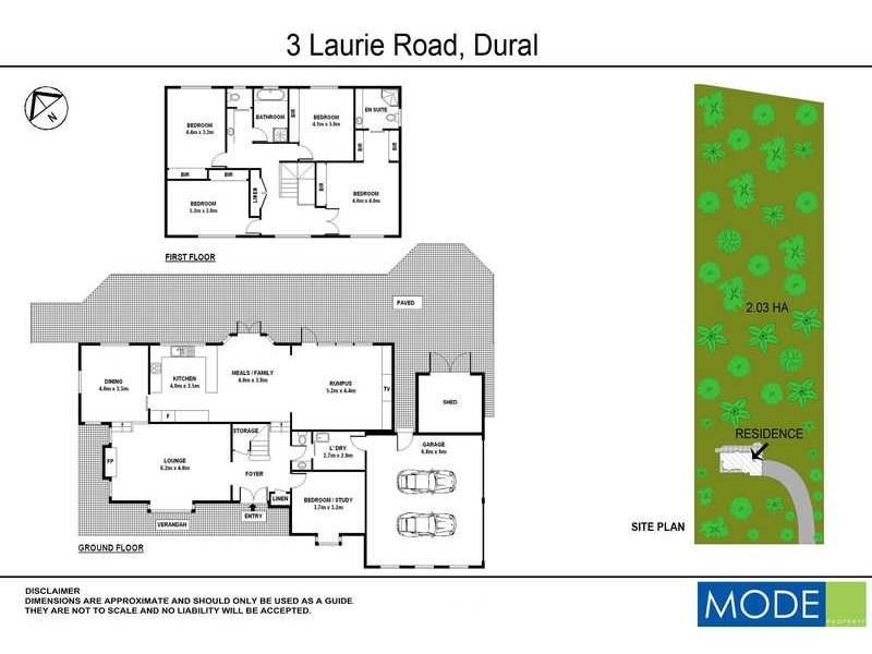 3 Laurie Road, Dural NSW 2158 Floorplan