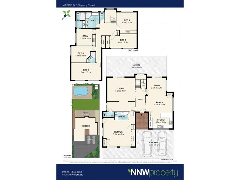 3 Shipway Street, Marsfield NSW 2122 Floorplan