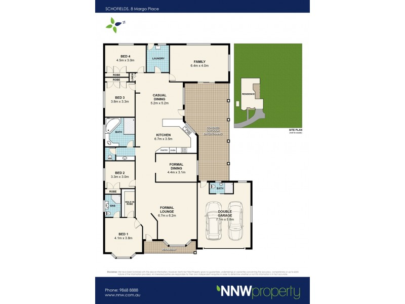 8 Margo Place, Schofields NSW 2762 Floorplan