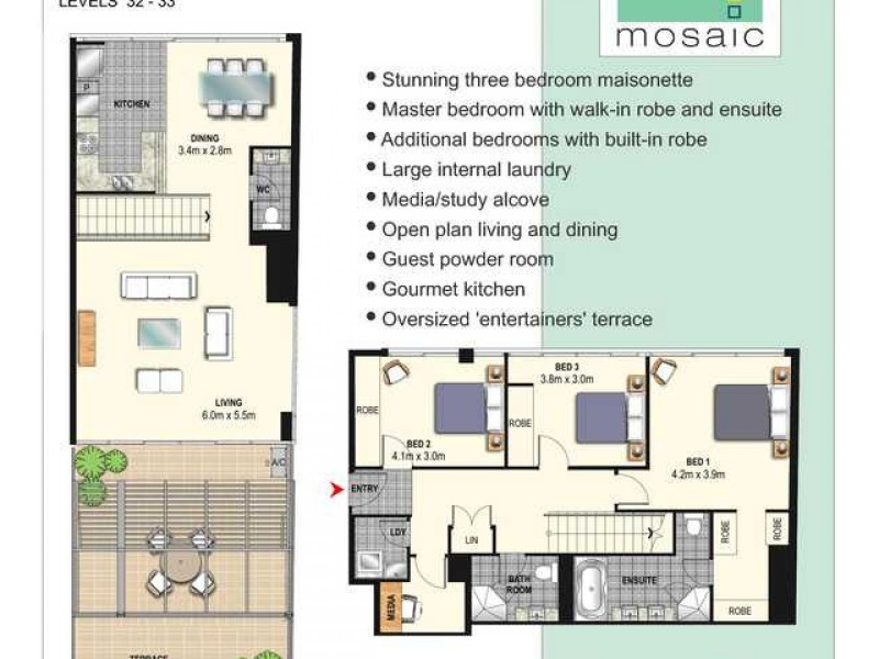 321/420 Pitt Street, Sydney NSW 2000 Floorplan