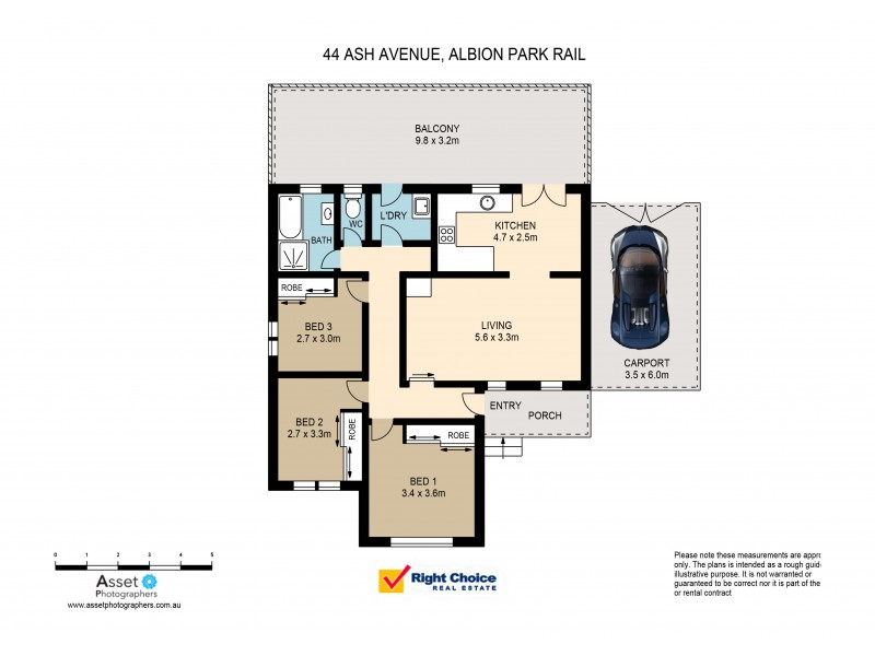 44 Ash Avenue, Albion Park Rail NSW 2527 Floorplan