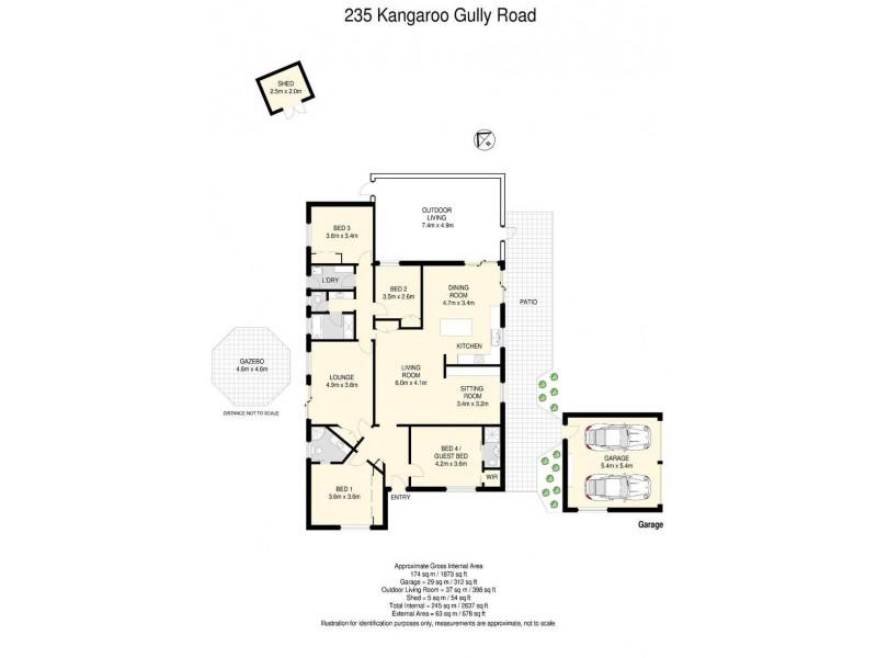 235 Kangaroo Gully Road, Bellbowrie QLD 4070 Floorplan