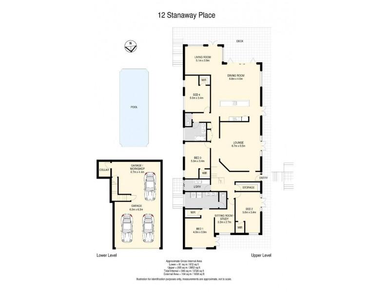 12 Stanaway Place, Bellbowrie QLD 4070 Floorplan