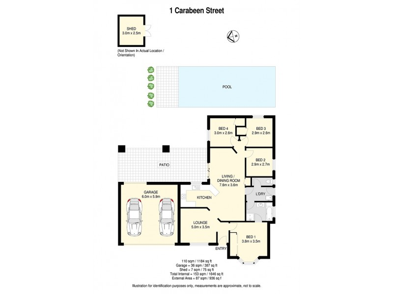1 Carabeen Street, Bellbowrie QLD 4070 Floorplan
