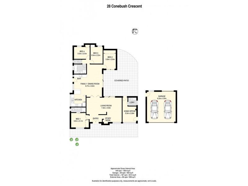 28 Conebush Crescent, Bellbowrie QLD 4070 Floorplan
