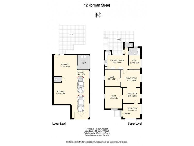 12 Norman Street, East Brisbane QLD 4169 Floorplan