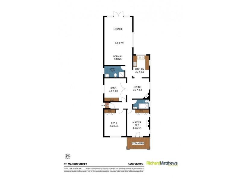 82 Marion Street, Bankstown NSW 2200 Floorplan