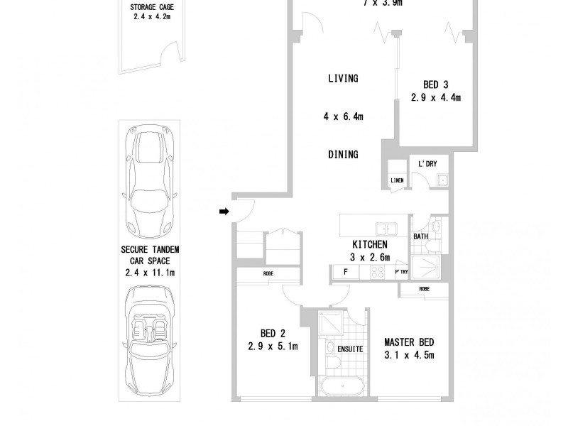 1361/61 Church Avenue, Mascot NSW 2020 Floorplan