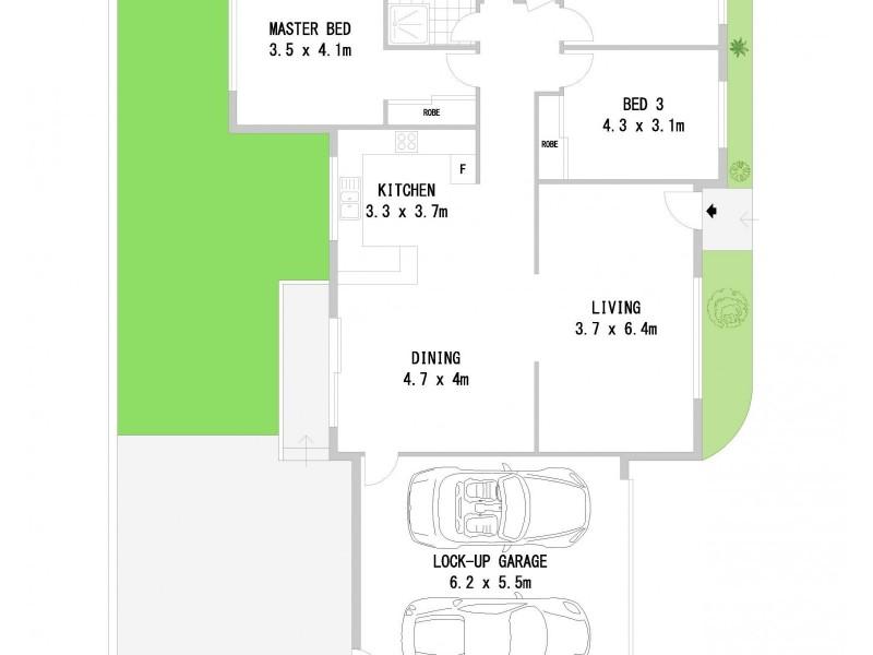 2/14 Napoleon Road, Greenacre NSW 2190 Floorplan